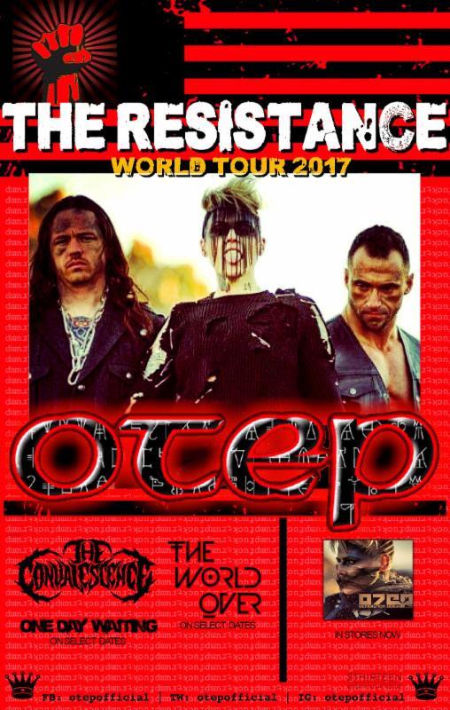 "OTEP Announces ""The Resistance"" World Tour"