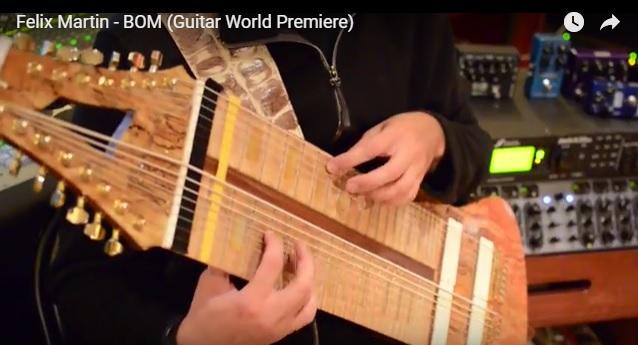 """Guitar Master FELIX MARTIN Reveals New Track """"Bom""""  + Playthrough Video"""