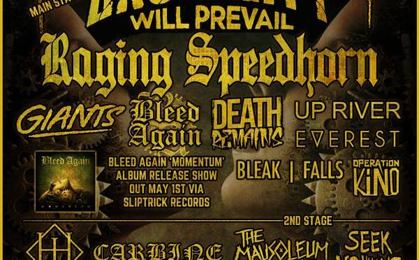 Brutality Will Prevail To Headline Mammothfest Event with Raging Speedhorn, Giants & More For Bleed Again's Album Launch!