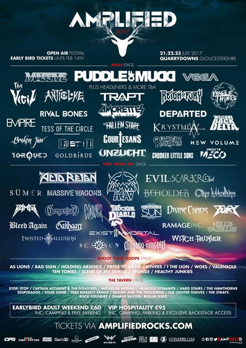 Amplified Open Air Festival launches New bands / Early bird tickets now on sale!!