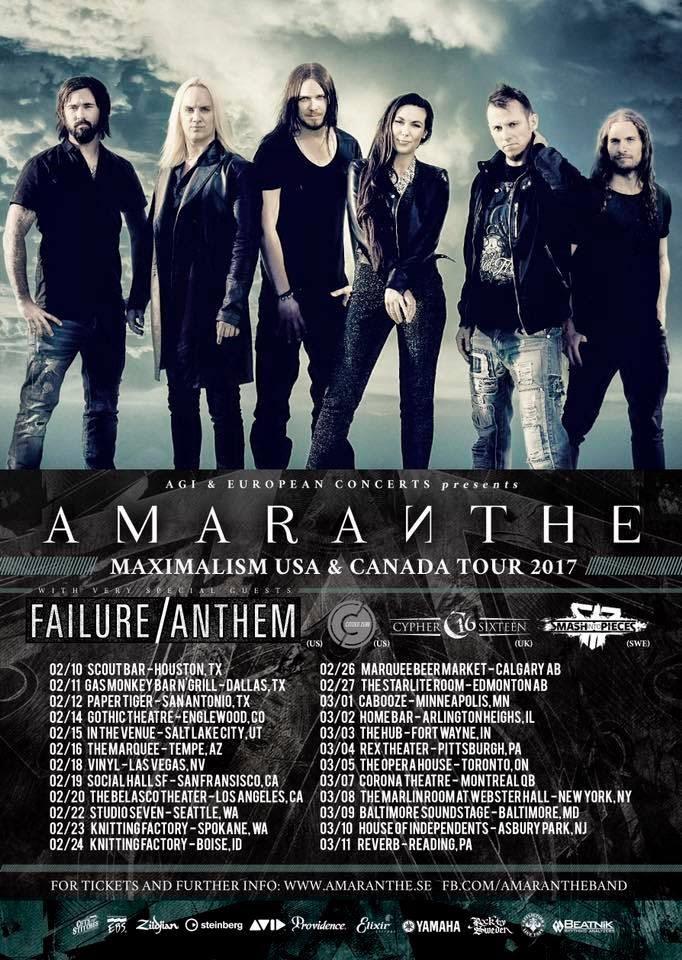 Amaranthe Tour Dates