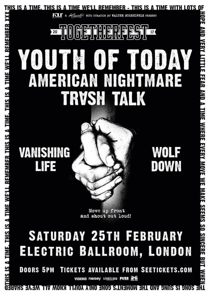 TOGETHERFEST- YOUTH OF TODAY / AMERICAN NIGHTMARE / TRASH TALK & MORE