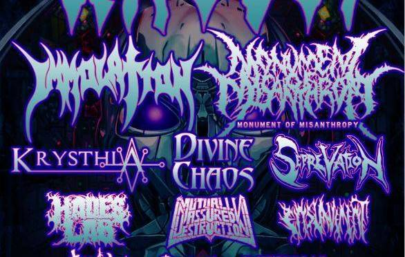Mammothfest and Jackhammer promotions presents: Headliners Vader With Support From Immolation, Monument of Misanthropy, Krysthla & More!