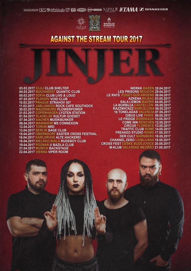 "JINJER Premiere Live Session Video For Track ""Pisces""!"