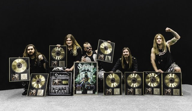 SABATON Distinguished with Gold and Platinum Awards!