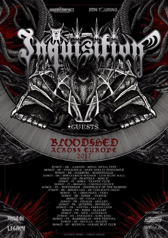 Inquisition kick off European tour