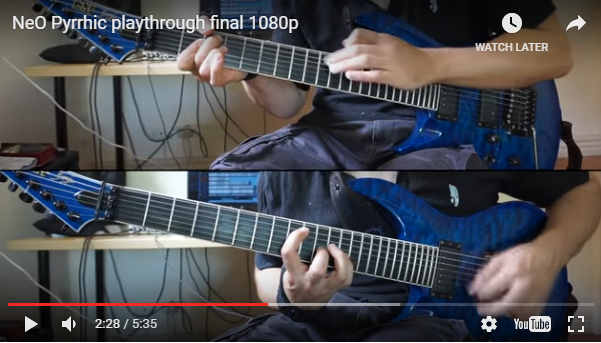 Ne Obliviscaris publish guitar play-through