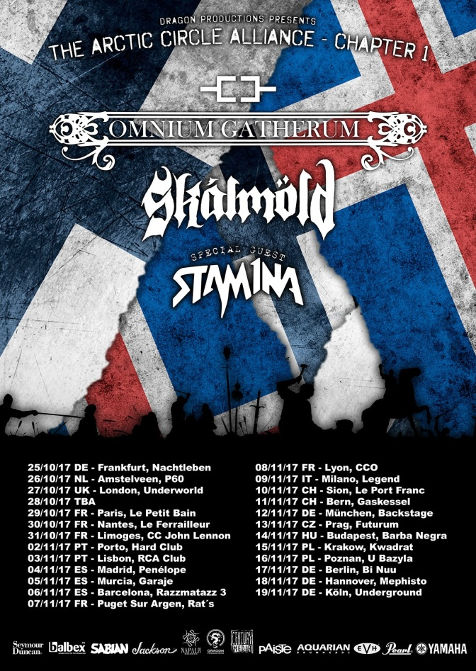 OMNIUM GATHERUM – announce European co-headline tour with Stam1na and Skálmöld!