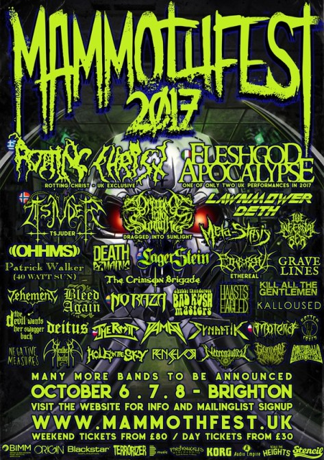 mammothfest poster line-up
