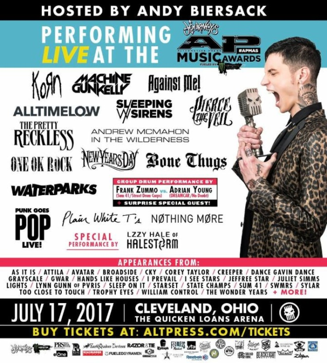 The ALTERNATIVE PRESS MUSIC AWARDS Announce New Performers + Icon, Vanguard and Influencer Honoree Award Recipients