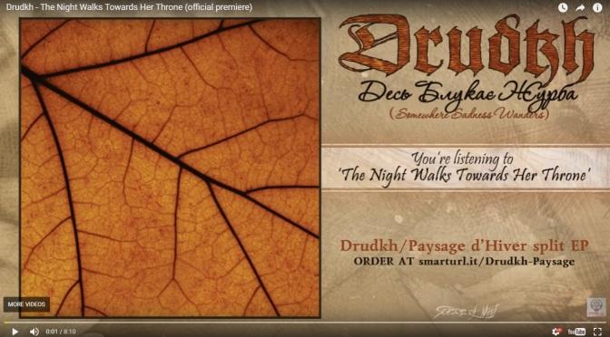 Drudkh and Paysage d'Hiver announce split-EP