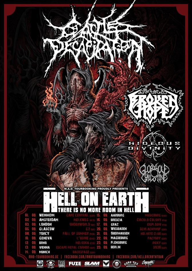 BROKEN HOPE – touring Europe with Cattle Decapitation in September