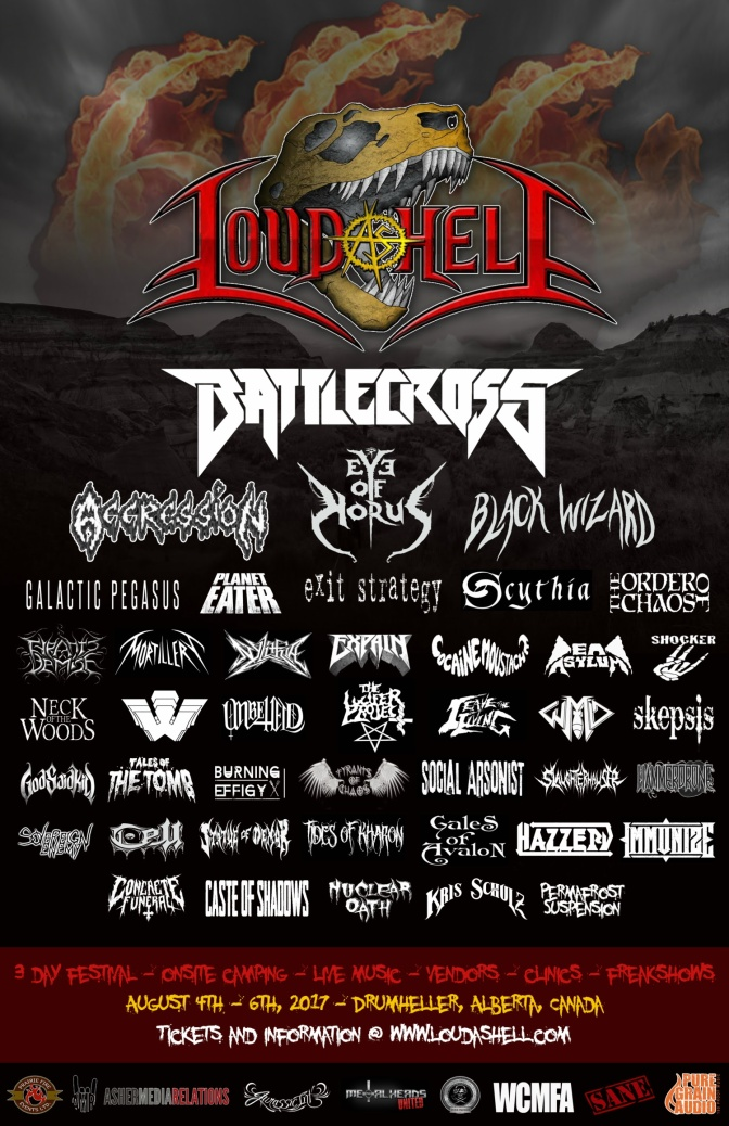 Loud As Hell Announce Line Up Changes For Aug 4-6 In Drumheller, AB