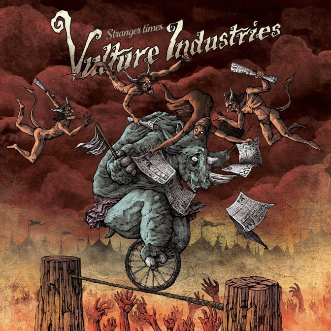 Vulture Industries premiere clip for 'Something Vile' featuring a dinosaur in Bergen