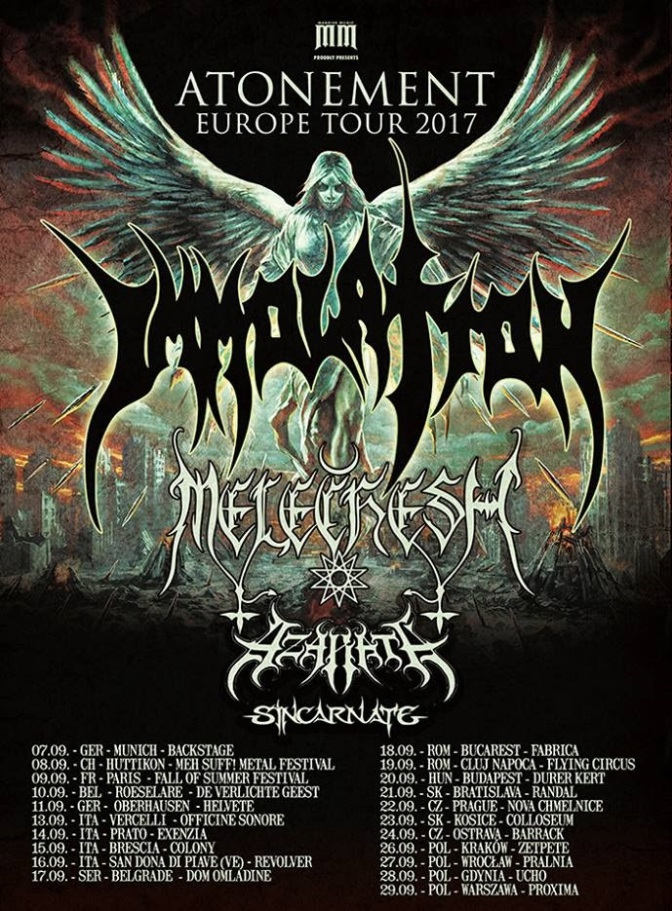 AZARATH announce tour with IMMOLATION