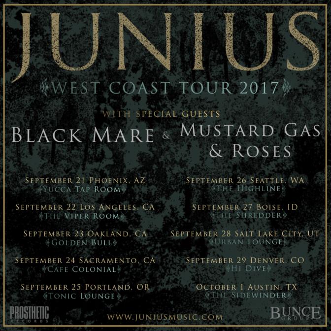 Junius  West Coast Tour Starts Today