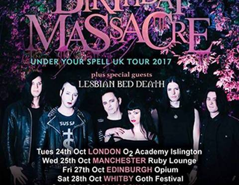 LESBIAN BED DEATH confirmed as the main support toThe Birthday Massacre's 2017 UK Tour
