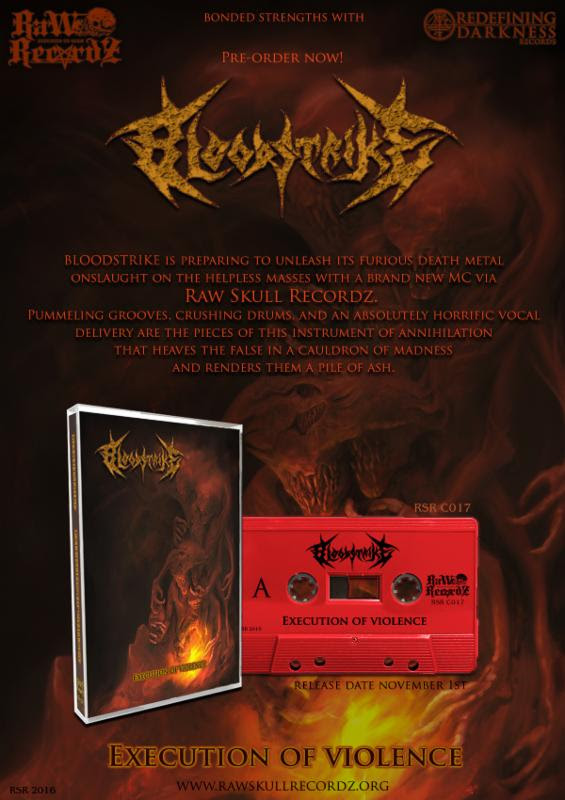 BLOODSTRIKE Streaming 'Execution of Violence' / Embarking on U.S. Tour with FORCEPS