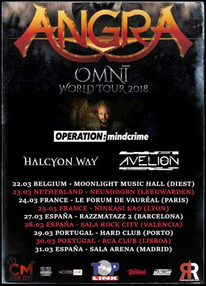 Avelion To Tour With Angra!