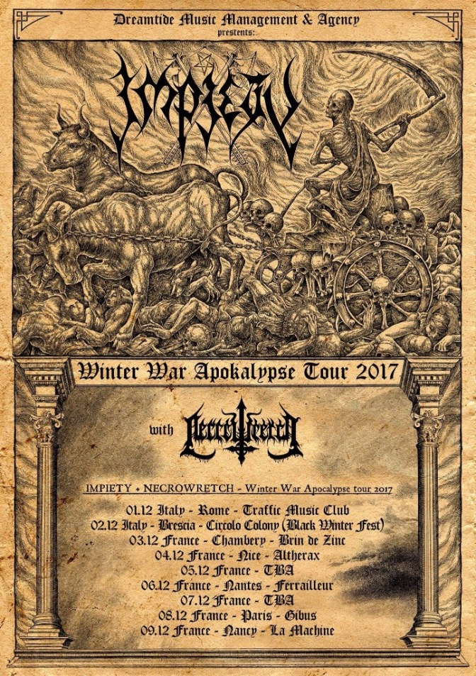 Necrowretch CANCEL Mini-tour with Interment