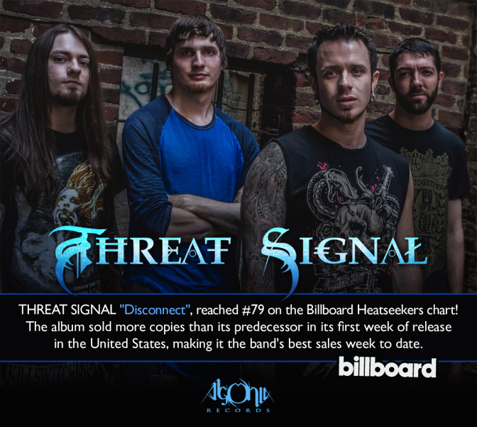 "THREAT SIGNAL enter Billboard Heatseekers chart in the United States with new album ""Disconnect"""