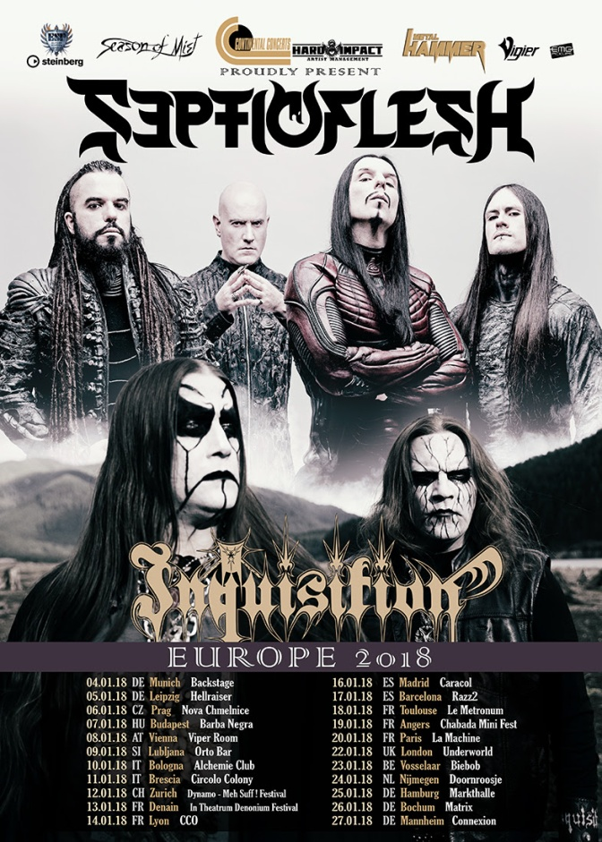 Inquisition kick off European tour with Septicflesh