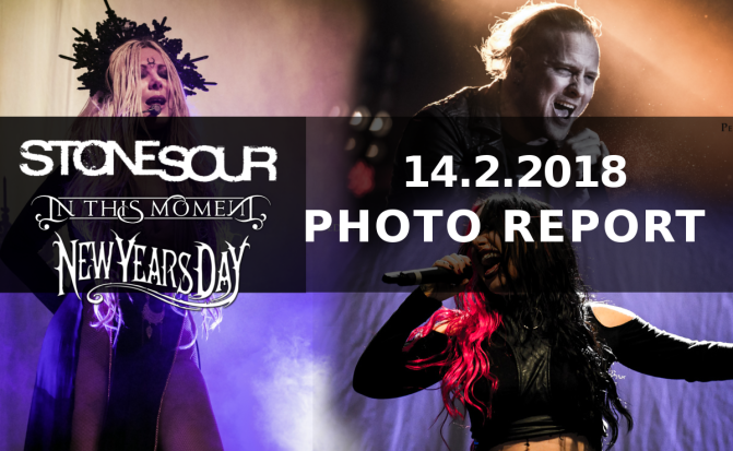 PHOTO REPORT:  Stone Sour, In This Moment & New Years Day Feb 14 @  | REBEL | Toronto, Canada