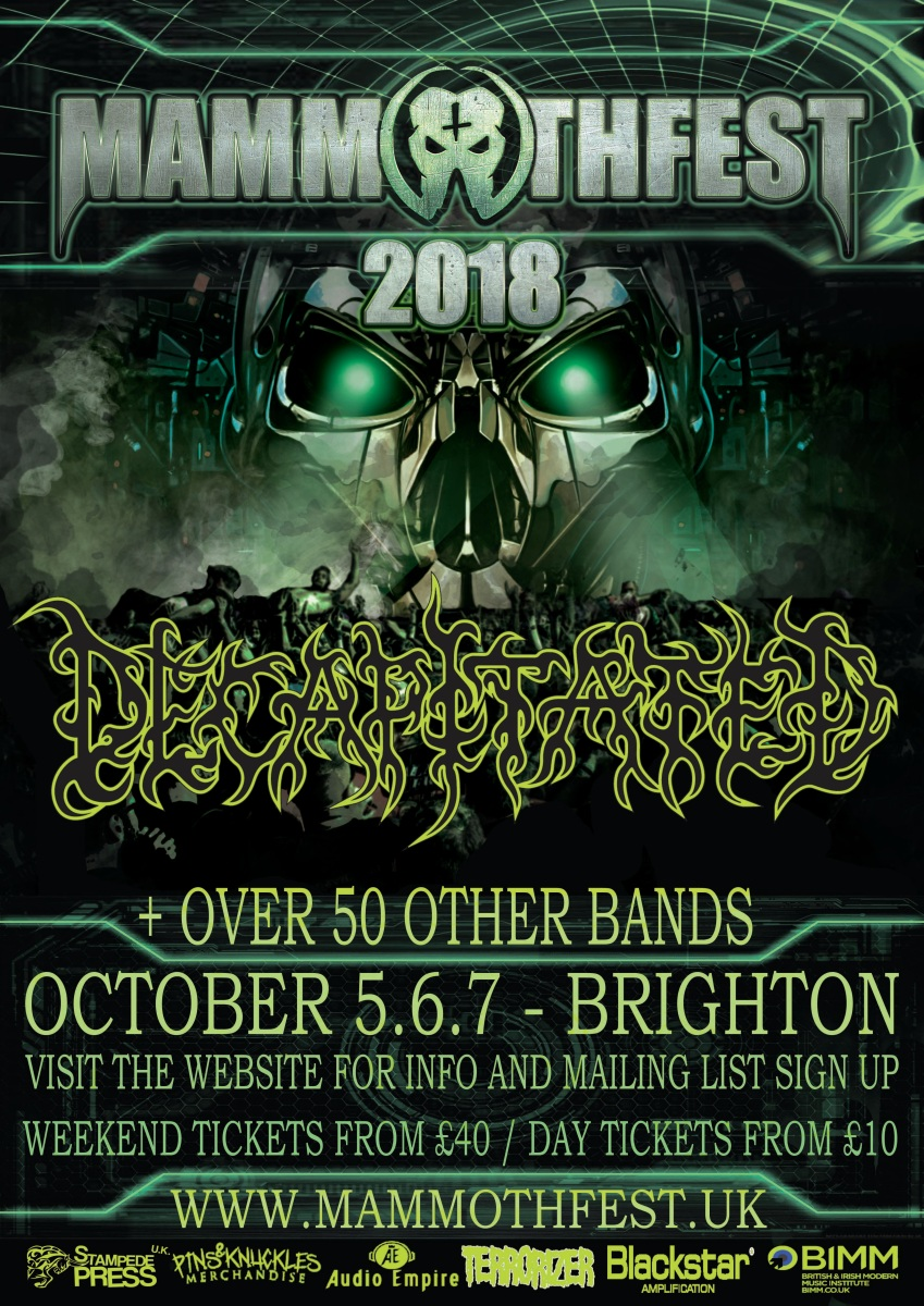 DECAPITATED to headline MAMMOTHFEST 2018!