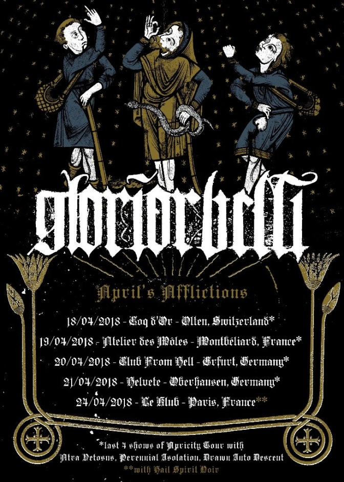 The French Black Metal Veterans GLORIOR BELLI Announce New Live Dates