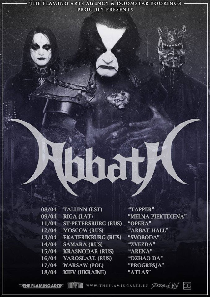 ABBATH embark on Tour in Eastern Europe and Russia