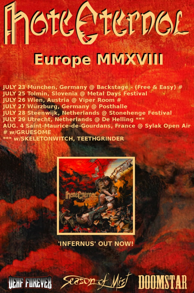 Hate Eternal – New European Tour Dates