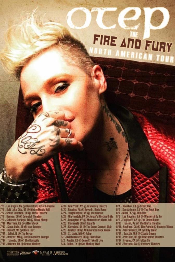 Activist-Artist OTEP Announces FIRE & FURY North American Summer Headline Tour Dates