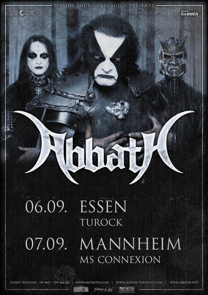 Abbath embark on European festival tour and add more dates in September