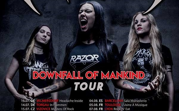 NERVOSA – New Album Downfall Of Mankind OUT ! European Tour Dates Announced!