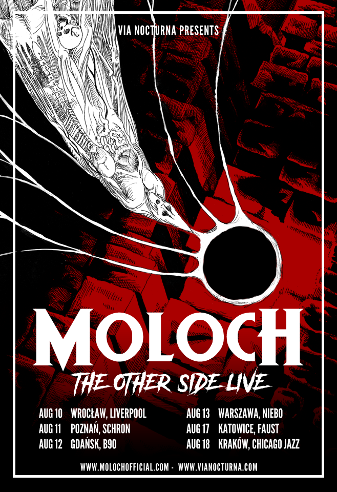 Dark/synthwave  act MOLOCH mini-tour to kick off this August!