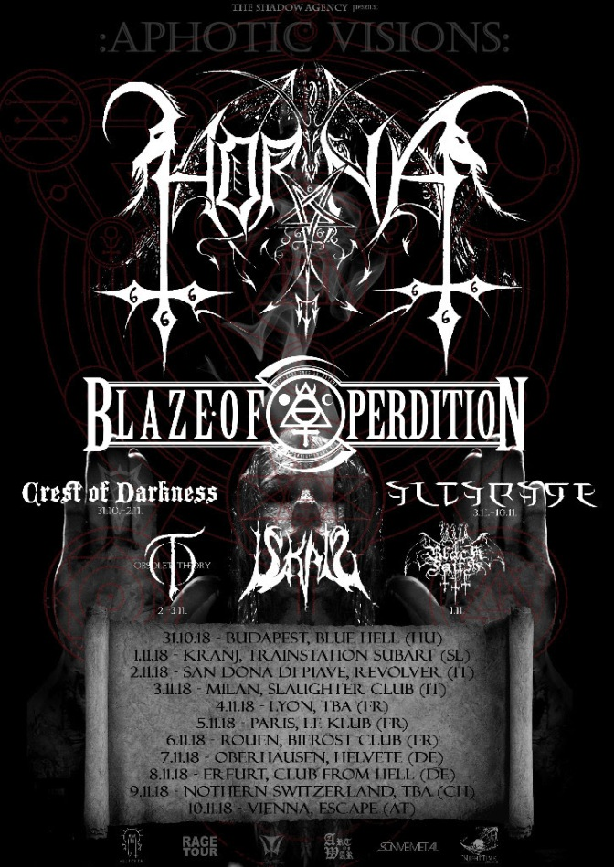 Altarage on tour with Horna, Blaze of Perdition and more!