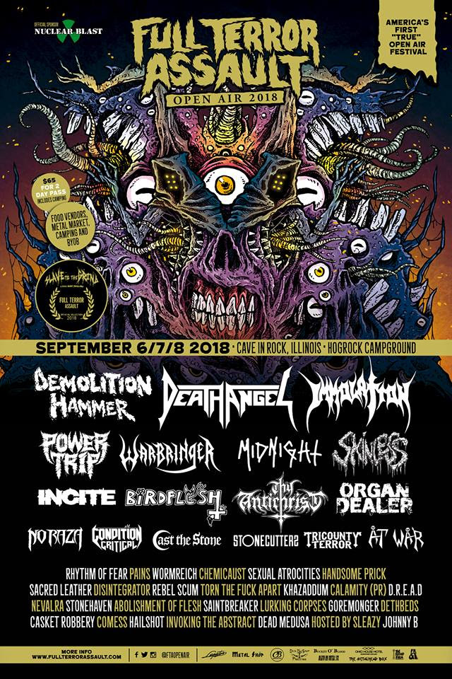 CASKET ROBBERY Appearing at Full Terror Assault Open Air September 8 / St. Louis Pre-Fest Party Happens September 6