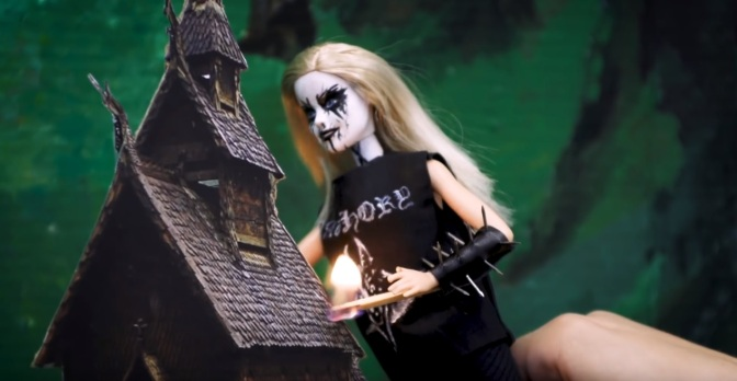 Black Metal Barbie!