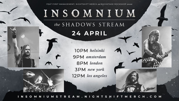 INSOMNIUM announce 'The Shadows Stream'