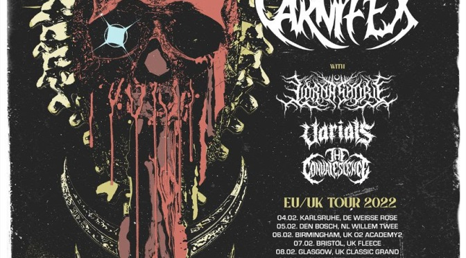 CARNIFEX announce tour with CHELSEA GRIN, LORNA SHORE, VARIALS and THE CONVALESCENCE